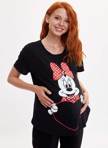 DeFacto Walt Disney Lisanslı Relax Fit Hamile Üst Siyah
